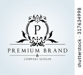 luxury vintage  crests logo... | Shutterstock .eps vector #317634998