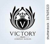 victory  luxury vintage crest... | Shutterstock .eps vector #317635223