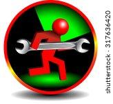 service button | Shutterstock .eps vector #317636420