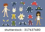 Boy And Girls Paper Dolls With...