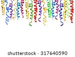 colorful streamer isolated on... | Shutterstock . vector #317640590