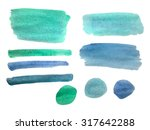 watercolor brushstroke... | Shutterstock .eps vector #317642288