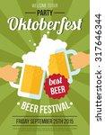 vector oktoberfest beer... | Shutterstock .eps vector #317646344
