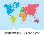 continents of the world and... | Shutterstock .eps vector #317647190