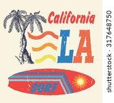 43 california surf. handmade... | Shutterstock .eps vector #317648750