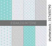 simple christmas patterns set... | Shutterstock .eps vector #317650790