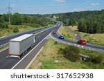 asphalt highway with white... | Shutterstock . vector #317652938