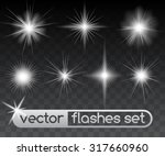 glowing stars  sparkles  light... | Shutterstock .eps vector #317660960
