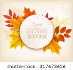 Autumn Sales Banner With...