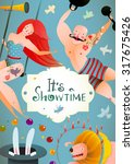 Circus Carnival Show Vintage...