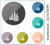 icon of factory. vector... | Shutterstock .eps vector #317675699