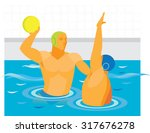 water polo. match | Shutterstock . vector #317676278