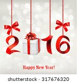 2016 new years background with... | Shutterstock .eps vector #317676320