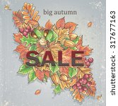 texture autumn theme with... | Shutterstock .eps vector #317677163