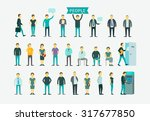set with 26 different people... | Shutterstock .eps vector #317677850