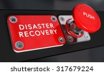 close up on a red panic button... | Shutterstock . vector #317679224