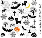halloween seamless background...