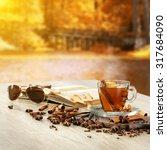 Hot Drink Autumn Season And Tree