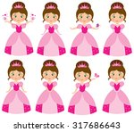 pink princesses | Shutterstock .eps vector #317686643