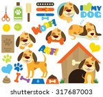 my doggie | Shutterstock .eps vector #317687003