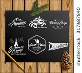 set of vector vintage logotype... | Shutterstock .eps vector #317687840