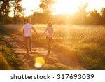 a walk at sunset   Shutterstock . vector #317693039