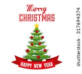 happy merry christmas design ... | Shutterstock .eps vector #317694374