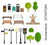street city flat design... | Shutterstock .eps vector #317697284