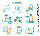 flat simple medical info... | Shutterstock .eps vector #317703410