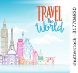 travel the world concept design ... | Shutterstock .eps vector #317706830