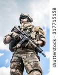 united states army ranger with... | Shutterstock . vector #317715158