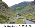 Stock photo beautiful views across the lakes district in cumbria united kingdom 317717108