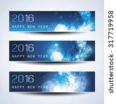 set of horizontal new year... | Shutterstock .eps vector #317719958