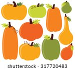 fall   autumn pumpkins | Shutterstock .eps vector #317720483