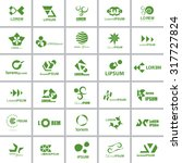 unusual icons set   isolated on ... | Shutterstock .eps vector #317727824
