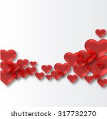 hearts background | Shutterstock . vector #317732270