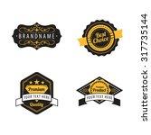 set of vintage badge template   ... | Shutterstock .eps vector #317735144