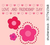 cute card with flowers for... | Shutterstock .eps vector #317761568