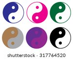 ying yang icons set   Shutterstock .eps vector #317764520