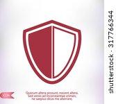 shield icon | Shutterstock .eps vector #317766344