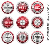 collection of round red badges... | Shutterstock .eps vector #317767340