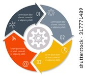 vector round infographic... | Shutterstock .eps vector #317771489