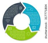 vector round infographic... | Shutterstock .eps vector #317771804