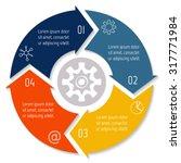 vector round infographic... | Shutterstock .eps vector #317771984