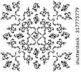 calligraphic vector pattern ... | Shutterstock .eps vector #317775779