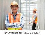 portrait of asian engineer in...   Shutterstock . vector #317784314
