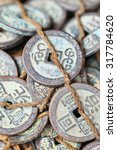 Tied Antique Chinese Coins On...