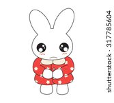 cute cartoon bunny girl in a... | Shutterstock .eps vector #317785604