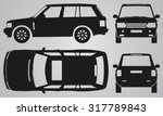front  back  top and side suv... | Shutterstock .eps vector #317789843