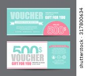 gift voucher template with... | Shutterstock .eps vector #317800634